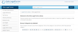 Screenshot of Gale Legal Forms