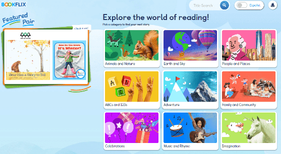 Screenshot of BookFlix